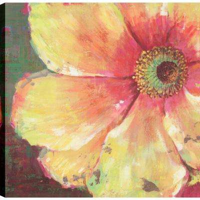 Yellow Flower to Decorate, Floral Art, Unframed Canvas Print Wall Art 24X24 Ready to hang by ArtMaison.ca