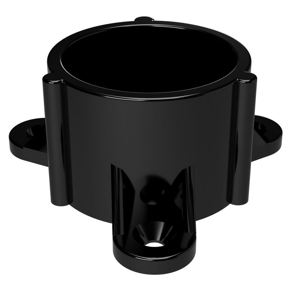 Formufit 1 14 In Furniture Grade Pvc Table Screw Cap In Black 10 Pack