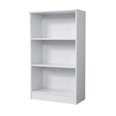 3-Shelf Standard Bookcase in White