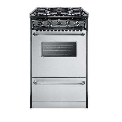 20 in. 2.46 cu. ft. Slide-In Gas Range in Stainless Steel