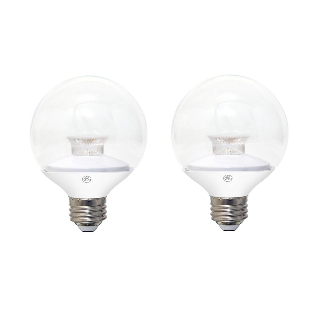 Ge Led Bulbs: GE 60W Equivalent Soft White (2700K) High Definition G25