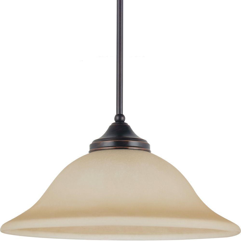 Sea Gull Lighting Brockton 1-Light Burnt Sienna Pendant