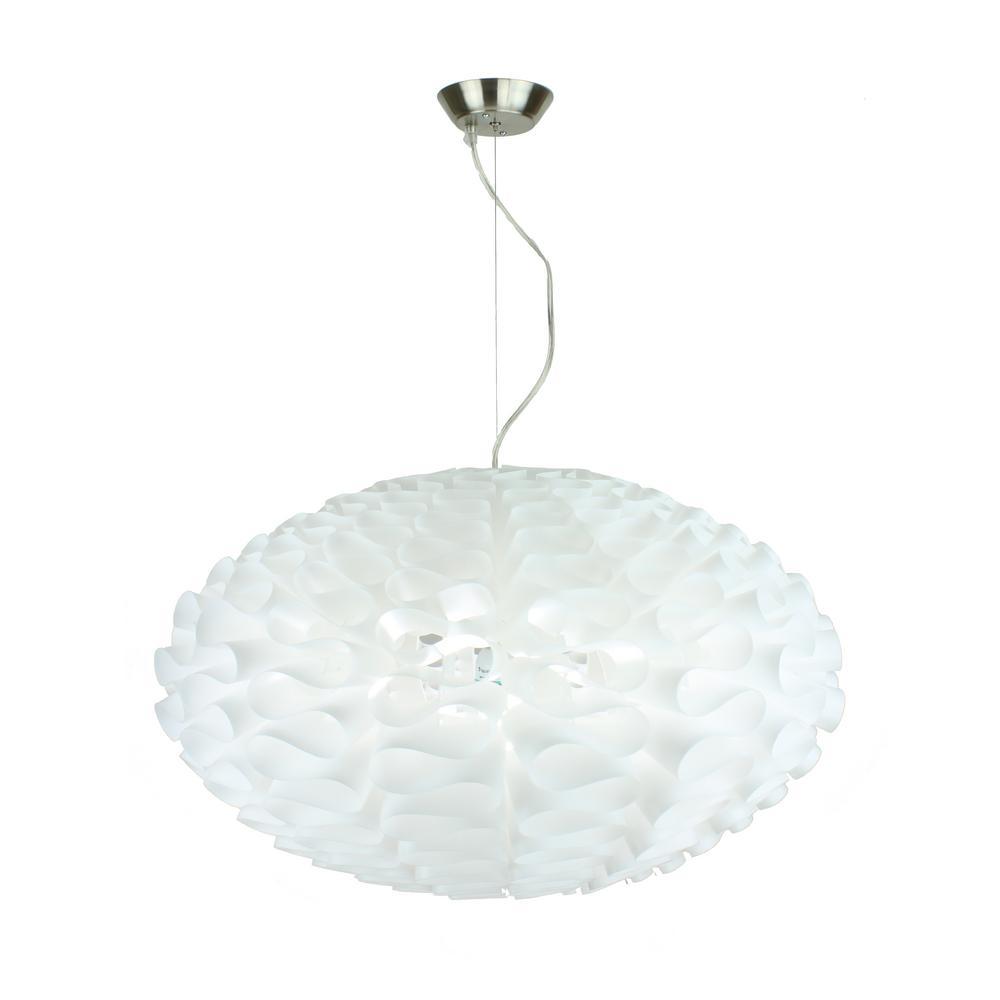 Bounzi 1-Light White Pendant Oval