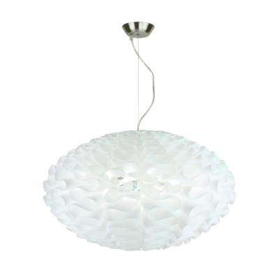 Bounzi 1-Light White Pendant Oval