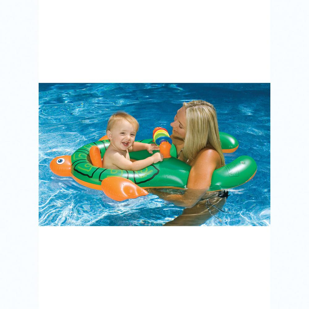 Swimline 42 in. x 32 in. Assorted Me and You Baby Seat Pool Float ...