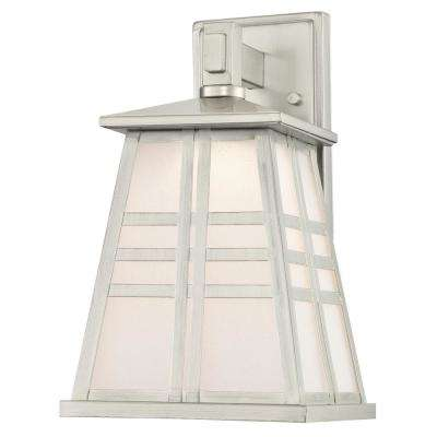 Creekview 1-Light Brushed Nickel Outdoor Integrated LED Wall Mount Lantern