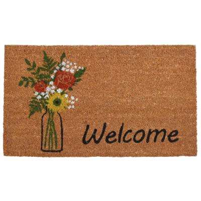 Summer Bouquet Door Mat 17 in. x 29 in.