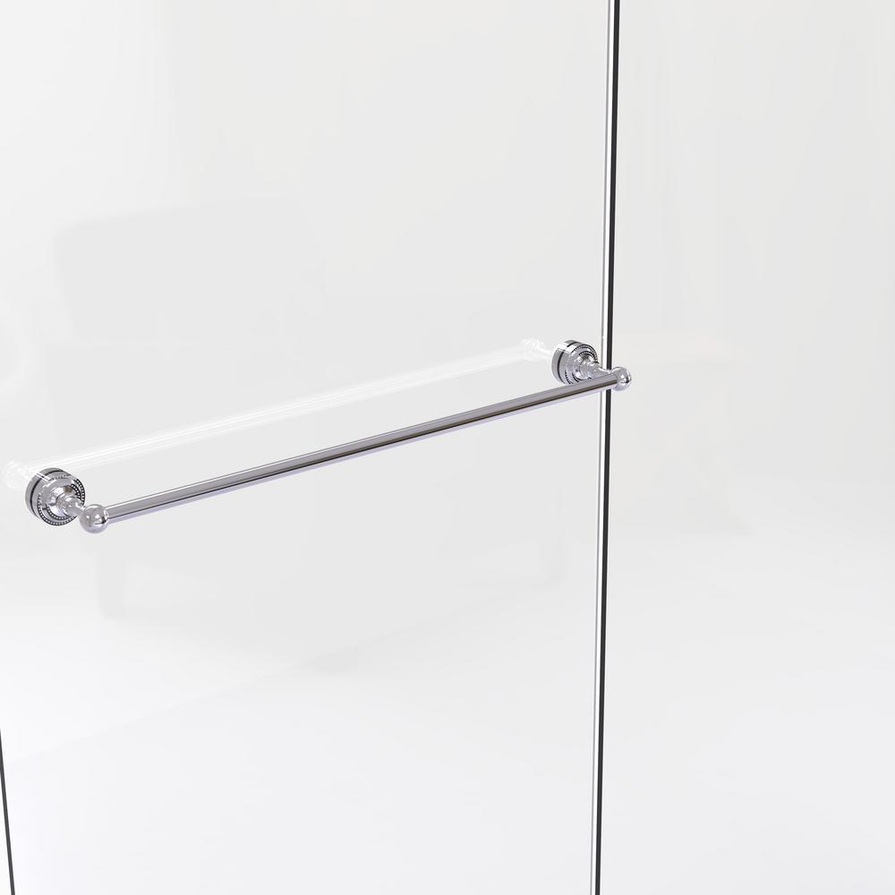 Allied Brass Dottingham Collection 30 In Shower Door Towel Bar In