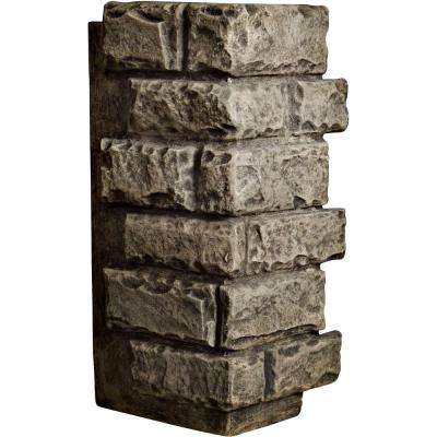 1-1/2 in. x 12-1/2 in. x 25 in. Grey Urethane Cut Coarse Random Rock Outer Corner Wall Panel