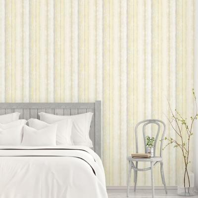Frequency Stripe Wallpaper in Greys & Yellows