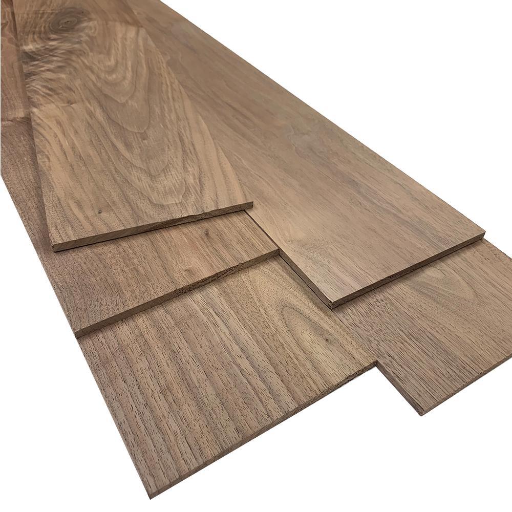 0.25 in. x 5.5 in. x 2 ft. Walnut Hobby Board (5-Pack)