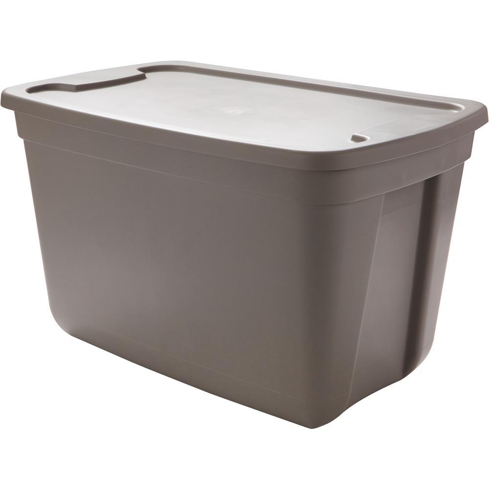 Hdx 20 Gal Storage Bin In Grey 2020, 20 Gallon Storage Tote