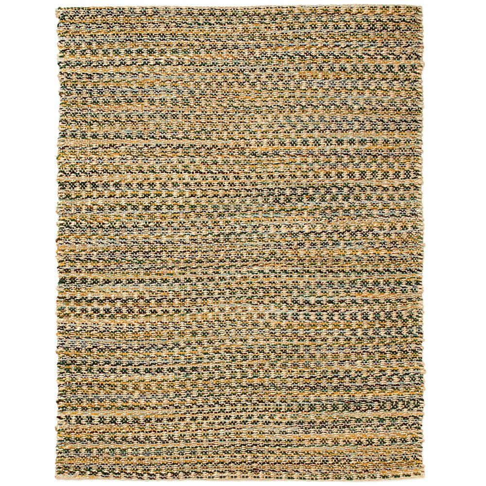 Anji Mountain Ilana Brown 4 ft. x 6 ft. Jute and Chenille Cotton Area Rug