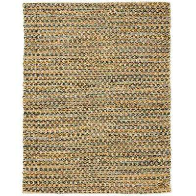 Ilana Brown 4 ft. x 6 ft. Jute and Chenille Cotton Area Rug