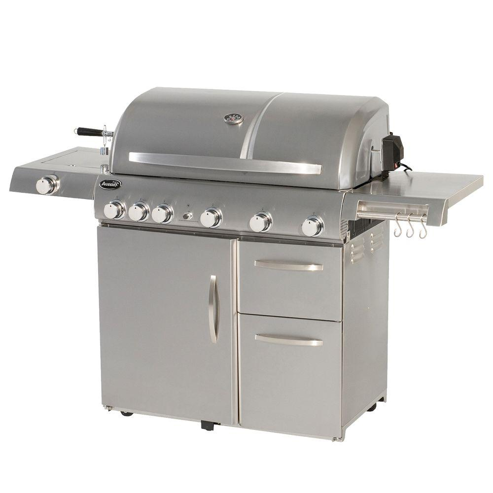 Aussie Deluxe 6-Burner Stainless Steel Propane Gas Grill