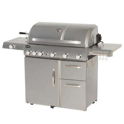 Deluxe 6-Burner Stainless Steel Propane Gas Grill