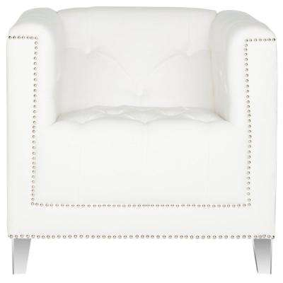 Hollywood Glam White/Clear Cotton Club Arm Chair