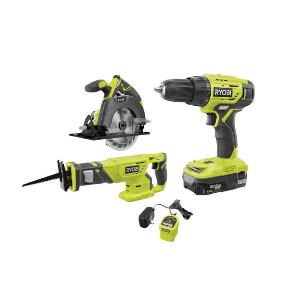 18V ONE+ Lithium-Ion Cordless Combo Kit (3-Tool) with (1) 1.5 Ah Battery and Charger