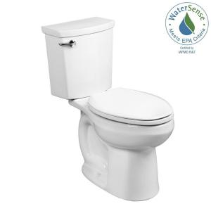 American Standard H2Optimum 2-piece 1.1 GPF Single Flush Elongated Toilet in White by American Standard