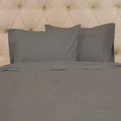 Linen Cotton 4-Piece Titanium Solid Queen Sheet Set