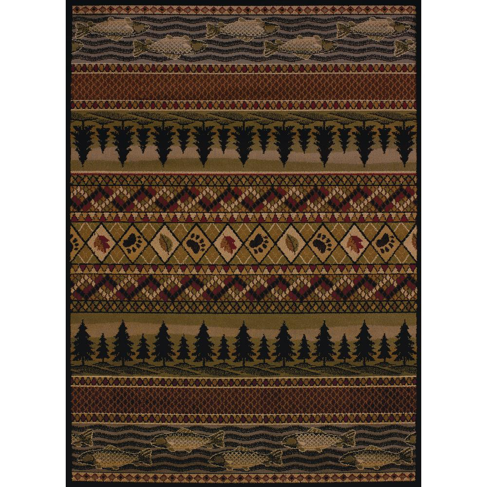 United Weavers Affinity River Ridge Lodge 1 ft  10 in  x 3 ft  Area Rug