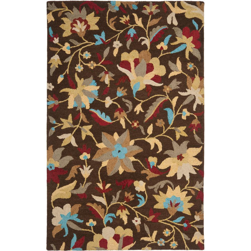 Jardin Brown/Multi 5 ft. x 8 ft. Area Rug