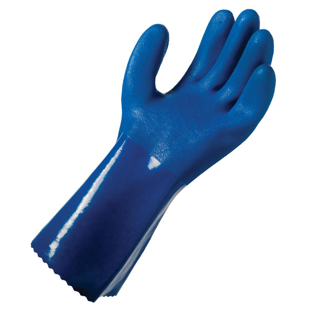 Grease Monkey Large Blue PVC Cleaning Glove