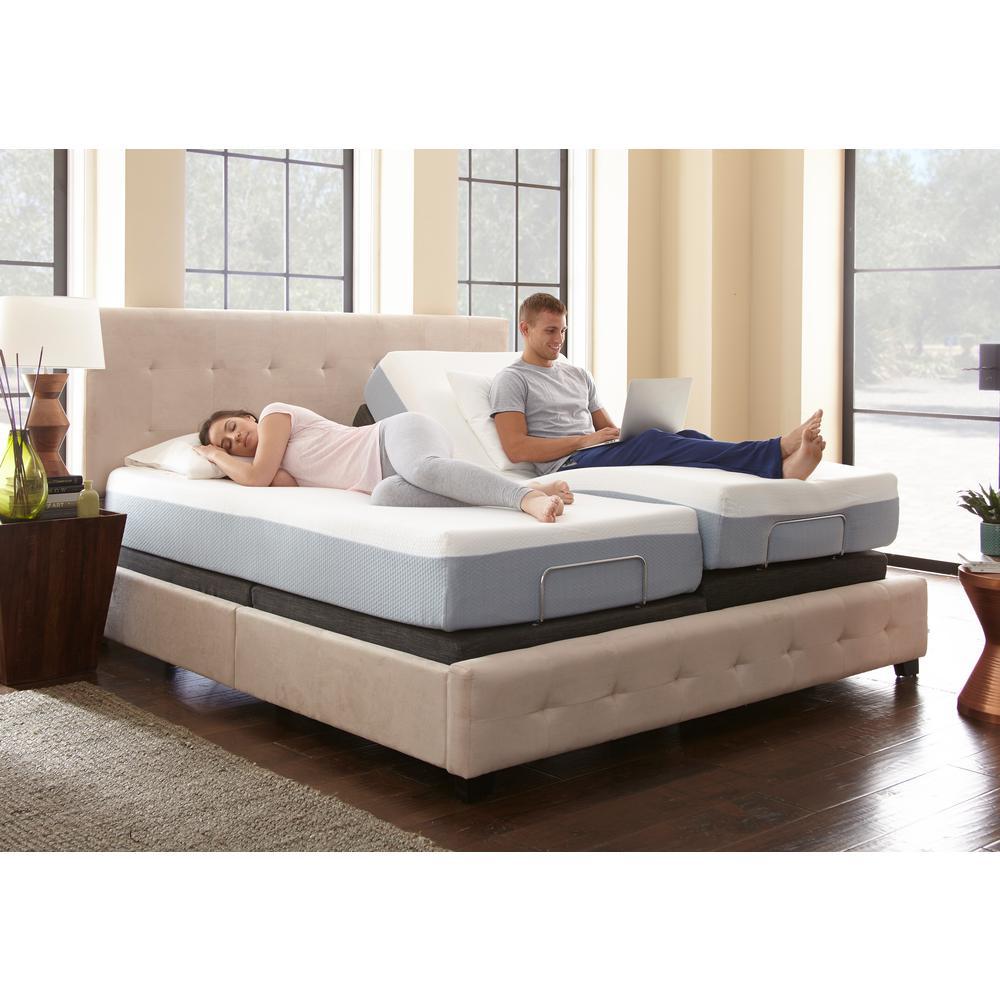 Rest Rite Size Adjustable Foundation Base Bed Frame Remote Control Black