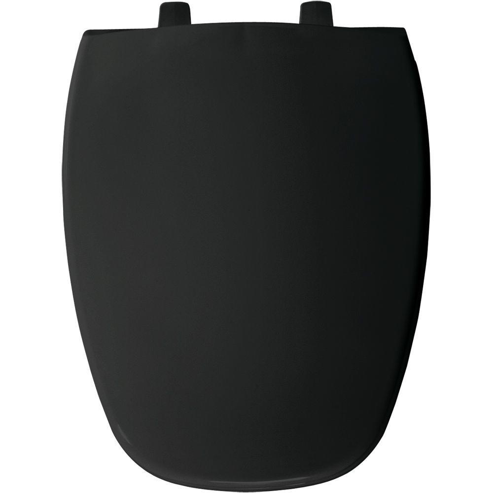 BEMIS Elongated Closed Front Toilet Seat in Black