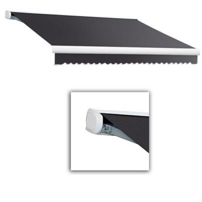 12 ft. Key West Full Cassette Right Motorized Retractable Awning (120 in. Projection) in Gun Gray