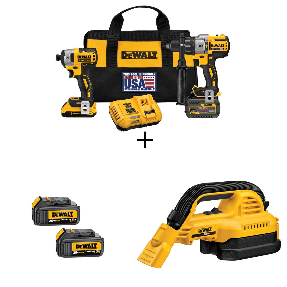 FLEXVOLT 60-Volt and 20-Volt MAX Lithium-Ion Cordless Brushless Combo with 2