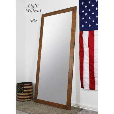 63.5 in. x 25.5 in. Light Walnut Full Body/Floor Length Vanity Mirror