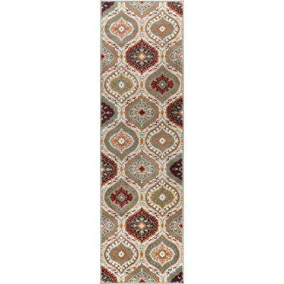 Deco Multi-Color 2 ft. 3 in. x 10 ft. Transitional Runner Rug