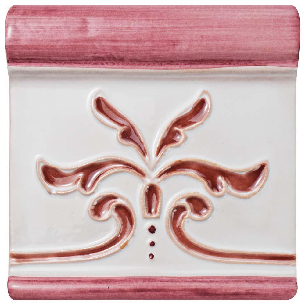 Novecento Friso Evoli Burdeos 5-1/4 in. x 5-1/4 in. Ceramic Wall Trim Tile