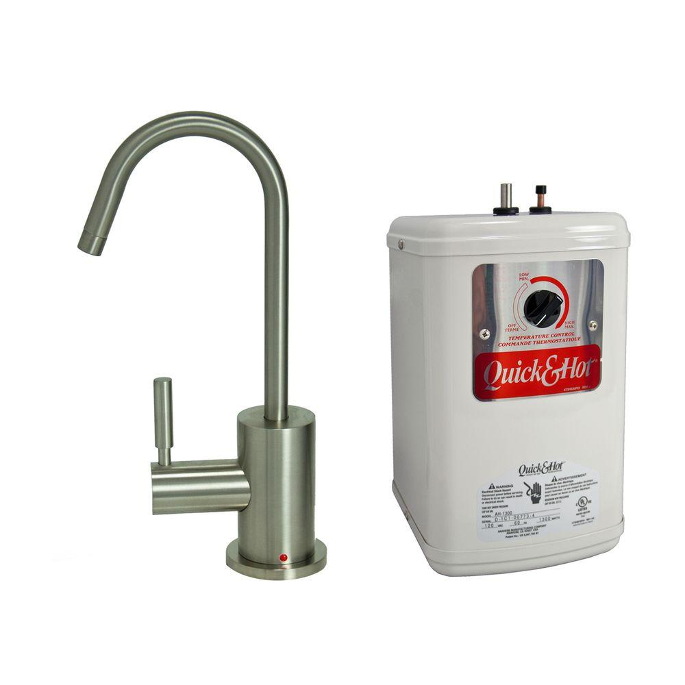Single Handle Hot Water Dispenser Faucet With Heating Tank In Stainless Steel
