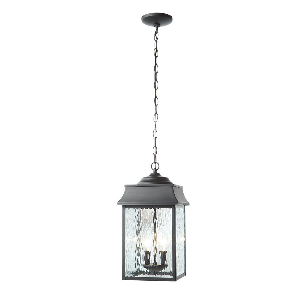 Scroll Black 2-Light Large Hanging Lantern