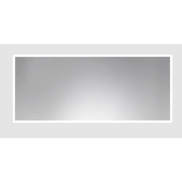 Rayne Mirrors 67 75 In X 34 75 In Matte White Metal Framed Large Double Vanity Mirror Adv014l The Home Depot
