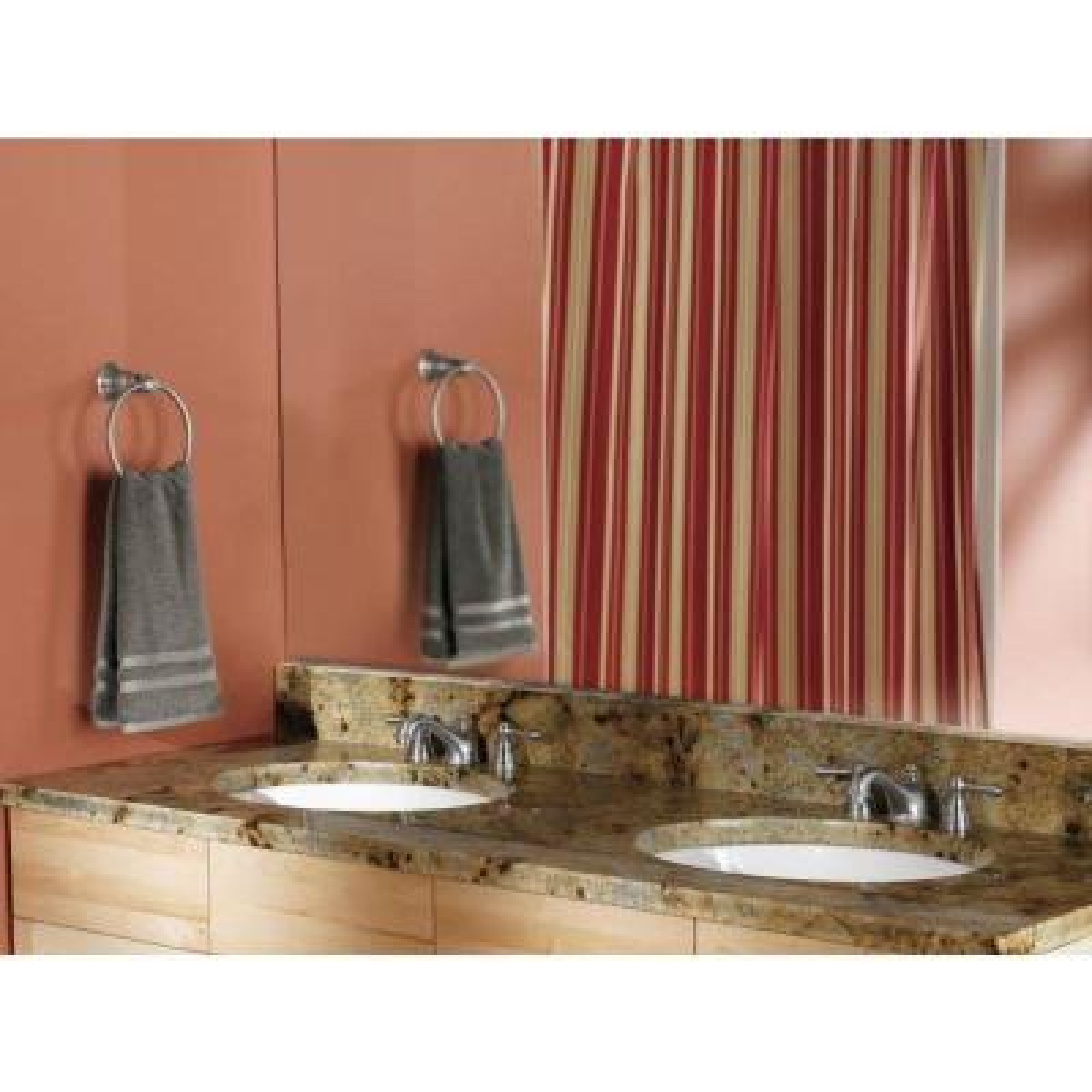 Kingsley Towel Ring in Brushed Nickel