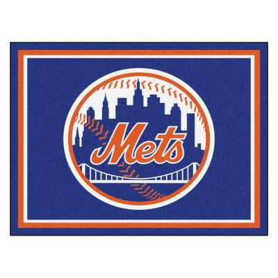 MLB New York Mets Blue 8 ft. x 10 ft. Indoor Area Rug