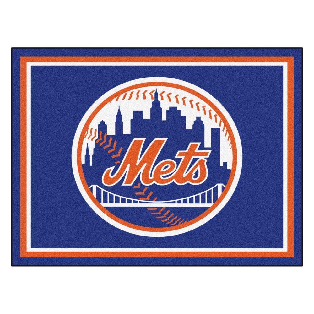 MLB New York Mets Blue 8 ft. x 10 ft. Indoor Area Rug