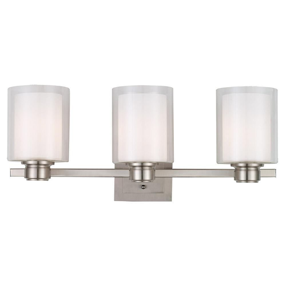 Oslo 3-Light Brushed Nickel Vanity Light