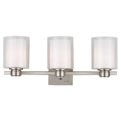 Oslo 3-Light Brushed Nickel Vanity Light
