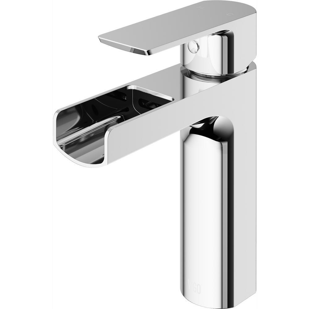 VIGO Ileana Single Hole Single-Handle Bathroom Faucet in Chrome