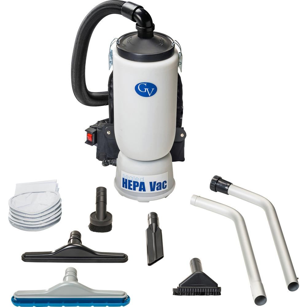 GV 6 qt. Lightweight Backpack HEPA Vacuum Cleaner with Tool Kit