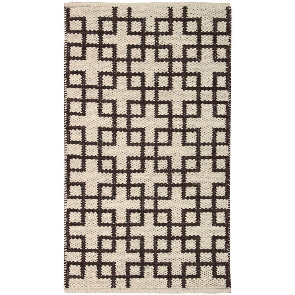 Maze Beige/Brown 2 ft. x 4 ft. Area Rug