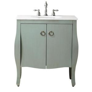 Home Decorators Collection Savoy 31 inch W x 22 inch D Vanity with Vanity Top in Blue with... by Home Decorators Collection