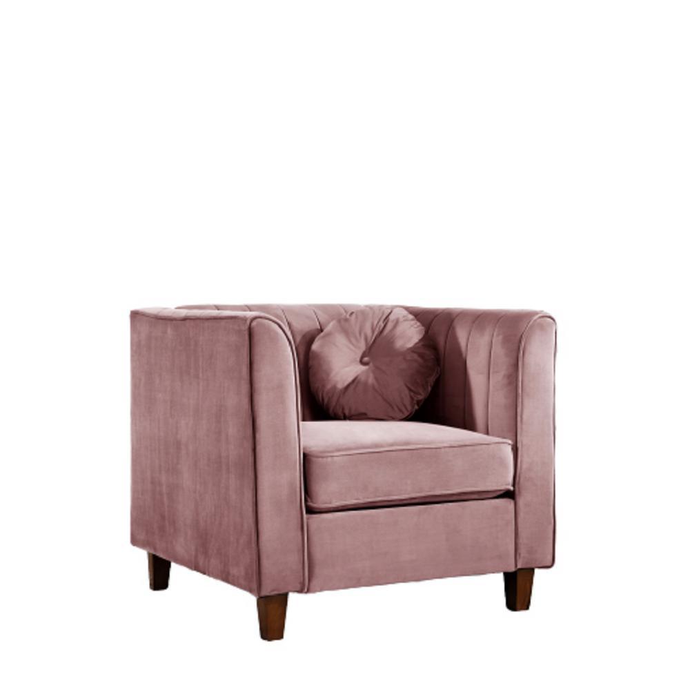 Lowery velvet Kitts Classic Rose Chesterfield Chair