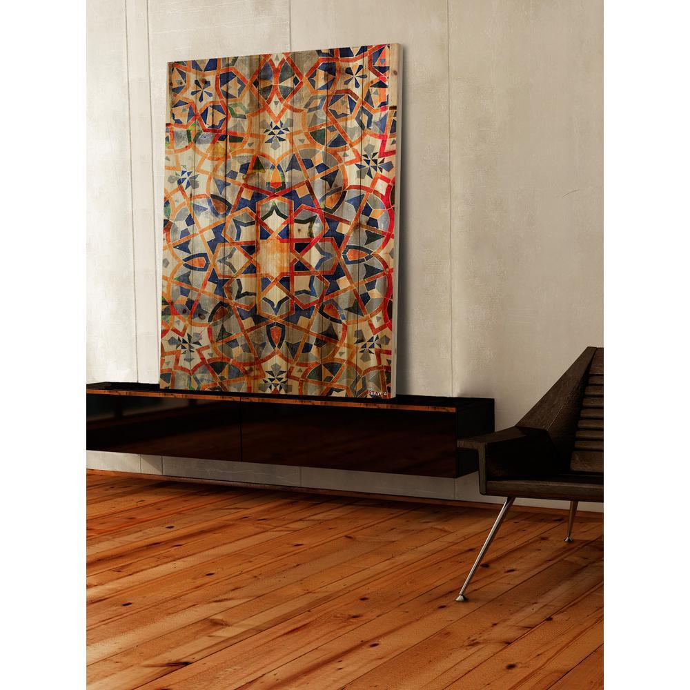 """36 in. H x 24 in. W """"Figuig"""" by Parvez Taj Printed Natural Pine Wood Wall Art"""
