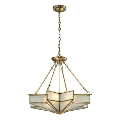 Vitruvius Collection 4-Light Brushed Brass Pendant