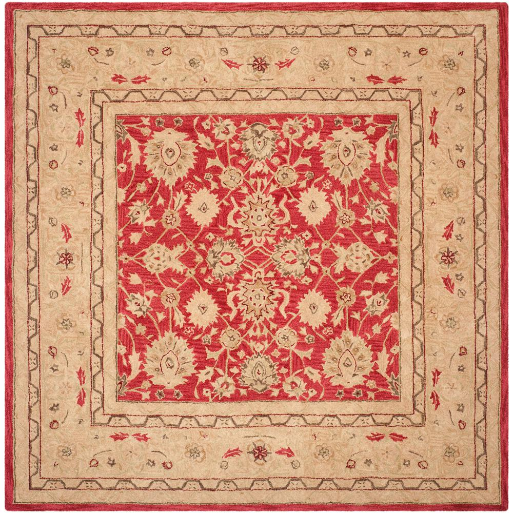 Safavieh Anatolia Red Ivory 8 Ft X 8 Ft Square Area Rug